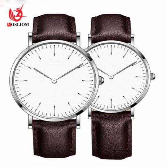 d24b42f2da New Couple Watches Student Fashion Stylish Belt Quartz Watch Analog Casual  Black Leather Strap Wrist Watch #324