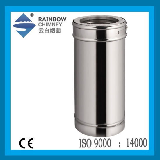 Ce Stainless Steel Double Wall Stove Chimney Pipe Straight Pipe