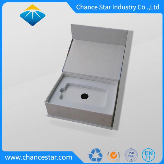 Custom Book Shape Magnetic Rigid Paper Box with EVA Insert