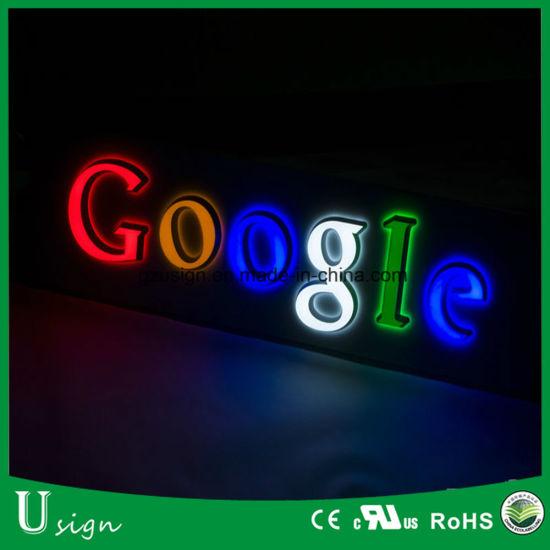 Advertising Edge Lit Acrylic LED Light Letter