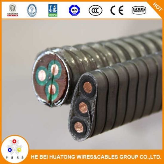 Flat Conductor Lead Sheath Submersible Oil Pump Cable