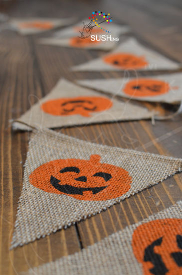 Halloween Higher Quality Triangle Jute String Flags pictures & photos