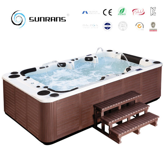 Outdoor Mini Jacuzzi.10 Person Capacity 4 Meters 158 Jets Mini Outdoor Swimming Pool Spa