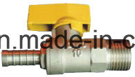 Thread Straight Stop Brass Gas Ball Valve with Steel Handle pictures & photos