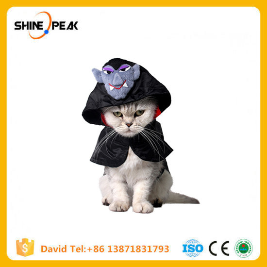 Black Polyester Halloween Cat Cloak Pet Rabbit Small Dog Cape Scottish Fold Cosplay Clothing Cats Products S M Size Available pictures & photos