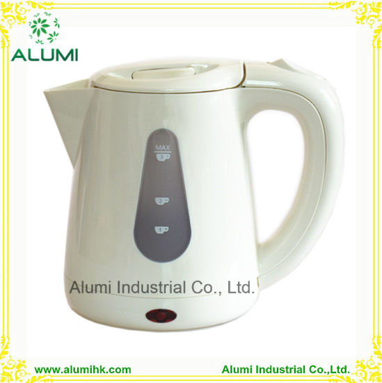 Mini Electric Kettle Creamy White Colour Hotel Equipment
