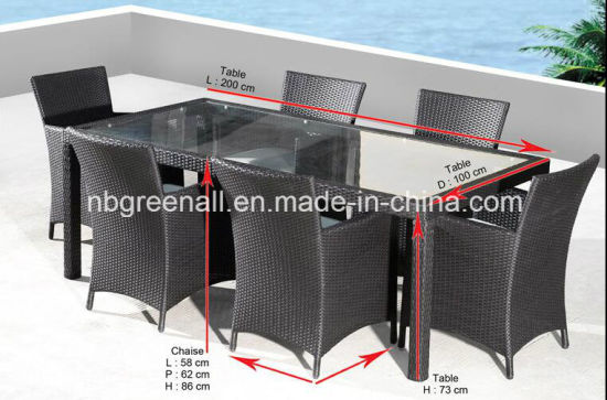 All Weather 6 Person Patio Dining Garden Outdoor Furniture pictures & photos