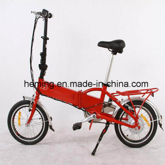 Hot Wholesales 16inch Folded E Bicycle pictures & photos