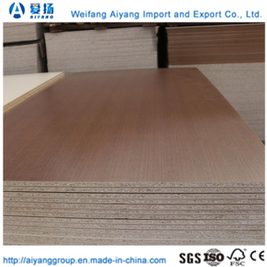 China 1220mm X 2440mm Melamine Laminated Chipboard Particleboard Flakeboard With Carb China Flakeboard Melamine Particle Board