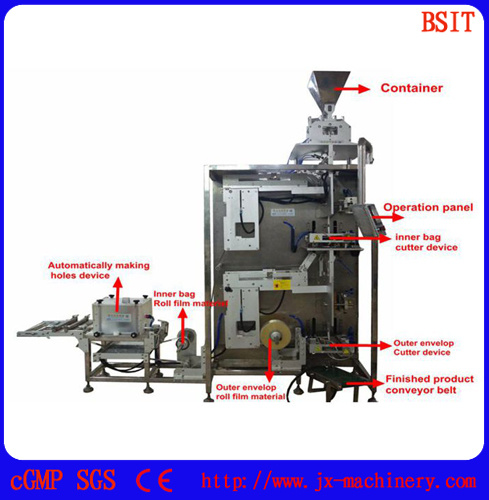 Automatic Tea Bag Filling Sealing Packing Machine with Hole pictures & photos