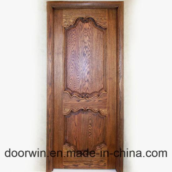 Flush Door Interior Timber Door Main Door Wood Carving Design Solid Oak Wood Hinged Door & China Flush Door Interior Timber Door Main Door Wood Carving Design ...