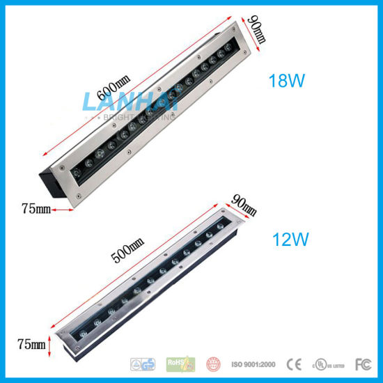 3W 5W 6W 9W 12W 15W 18W 24W 36W 24V Flowerbeds Straight LED Linear Buried Lights Underground Lamp pictures & photos