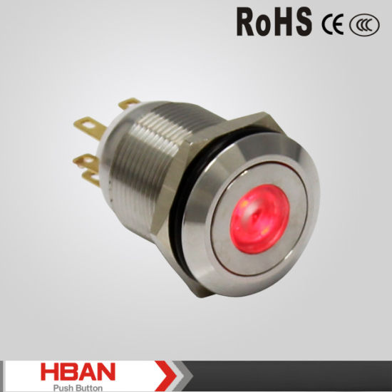 China UL TUV ISO9001 19mm DOT-Illuminated Switch with LED Colored ...
