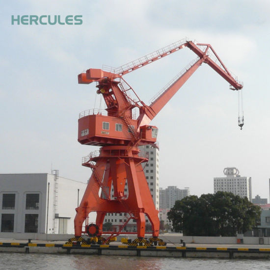 Portal Double Beam Crane with Slewing Container pictures & photos
