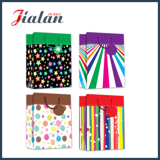BSCI Audit Gift Packaging Colorful Daily Shopping Gift Paper Bag