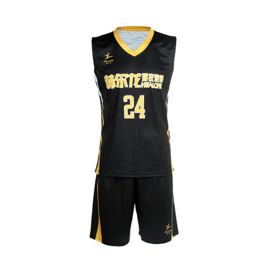 db77f2f4b 2018 New Design Basketball Uniform Custom Wholesale Basketball Uniform  Black pictures   photos