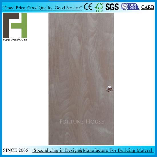 Solid Wood Modern Construction Plywood Interior Flush Door Leaf