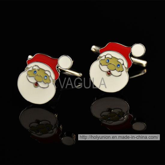 VAGULA Christmas Gift Santa Shirt Cufflinks