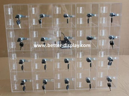 china clear mobile phone display cabinet/cell phone storage case