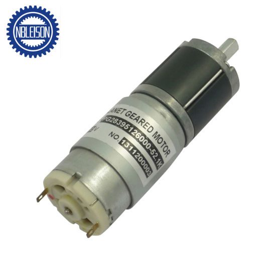 28mm 12V 24V High Torque PMDC Planetary Geared Motor for Curtain pictures & photos