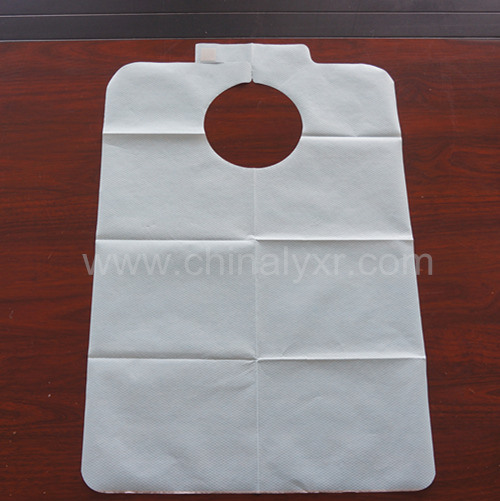 PE Plastic with Paper 2in1 Design Adult Apron