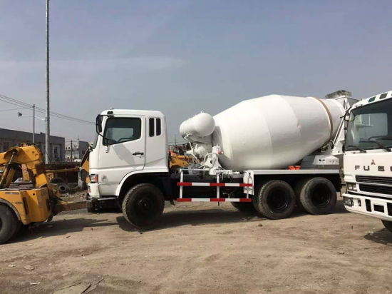 Mitsubishi-Diesel-Engine 6*4-LHD 10~20ton Japan-Make New-White-Repaint Used Fuso Concrete Mixer Truck pictures & photos