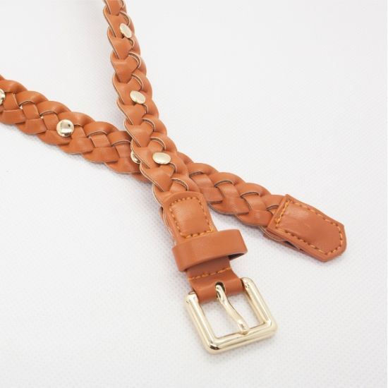 Kids PU Leather Braided Belt (RS-131204) pictures & photos