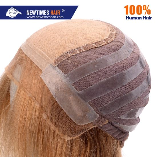 Custom Made Anti-Slip Glueless Human Hair Women Wig pictures & photos