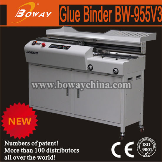 Boway 420mm 600 Sheets A3 A4 Paper Size Auto Side Glue Hot Melt Perfect Book Binding Machine