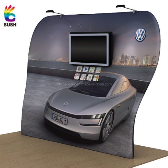 Portable Exhibition Banners : China tension fabric portable exhibition stand display stand