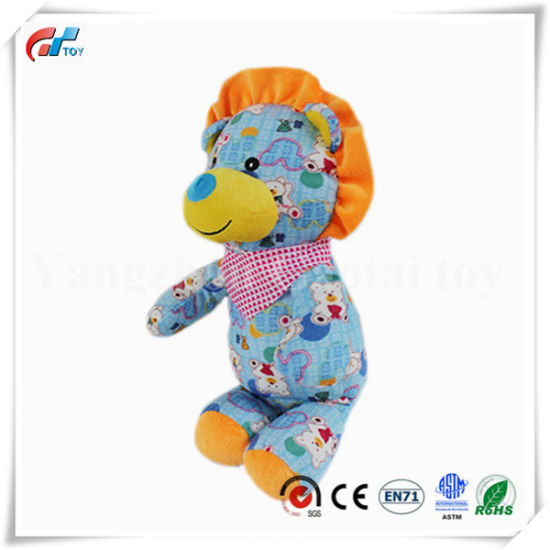 Factory Direct 100% Cotton Material Custom Lion Soft Toy
