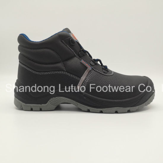 PU Injection S3 MID-Cut Safety Shoe for Workers