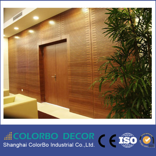Meeting Room Interior Wall Decoration Wood Soundproof Acoustic Wall Panel