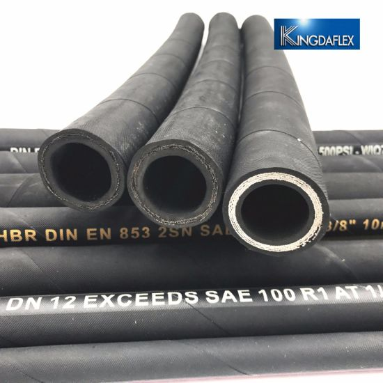 ISO9001 Certificate Spiral Rubber Raw Material Hydraulic Hose