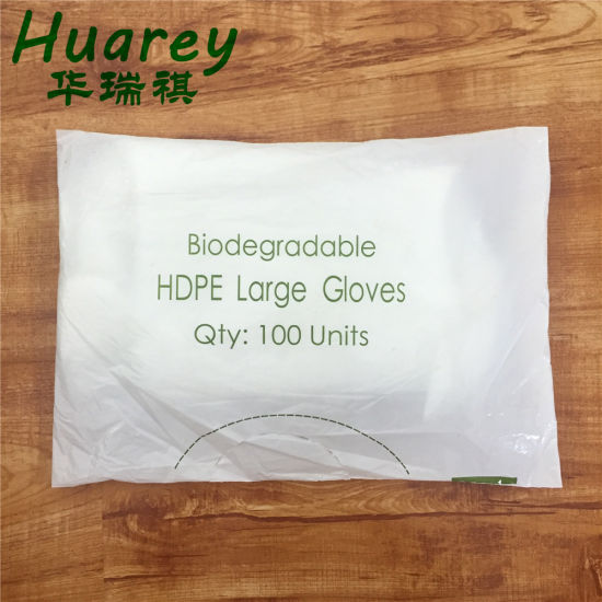 PE Disposable Gloves Packed in Customized Bags or Boxes