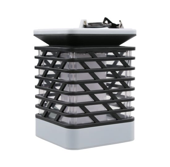 Solar Lantern Candle Holder Lamp Solar Candle Lamp with Flame Solar Garden Home Lamp 75LED