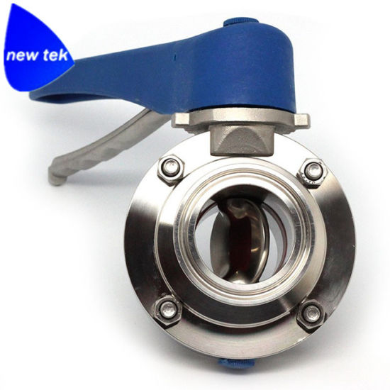 Stainless Steel Butterfly Valves Tri Clamp Connections pictures & photos