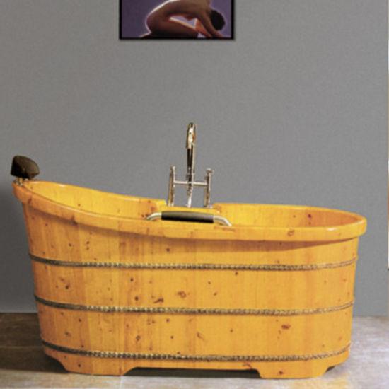 Bathroom Accessories Wooden SPA Soaking Bath Tub (NJ 048)