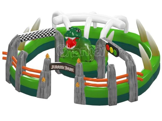 Jurassic Park Inflatable Race Car Track Chsp546