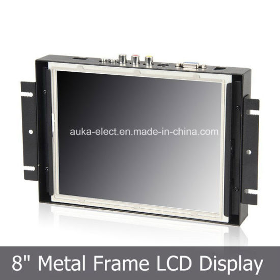 8′′ Industrial TFT Rugged Monitor with 4-Wire Touch Panel pictures & photos