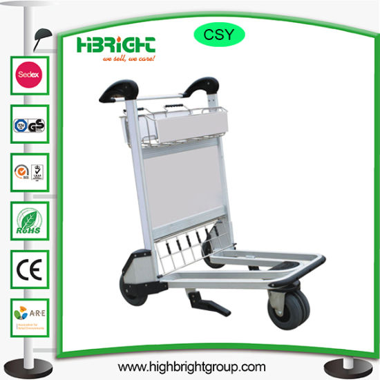Airport Aluminum Hand Brake Luggage Trolley Cart pictures & photos