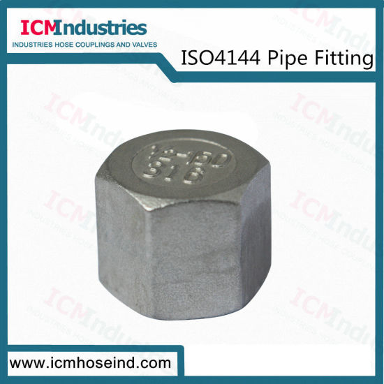 Stainless Steel Hex Cap Threaded Fittings/ISO 4144 Pipe Fitting