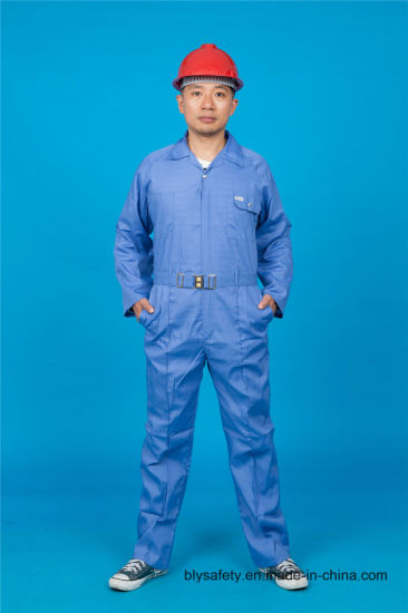 65% Polyester 35%Cotton Safety Long Sleeve Working Garment with Reflective (BLY1023)