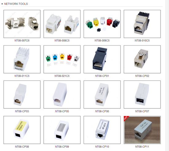 CAT6A UTP Inline Coupler Adapter pictures & photos