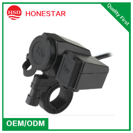 Motorcycle Cigarette Lighter Socket with Waterproof Cap pictures & photos