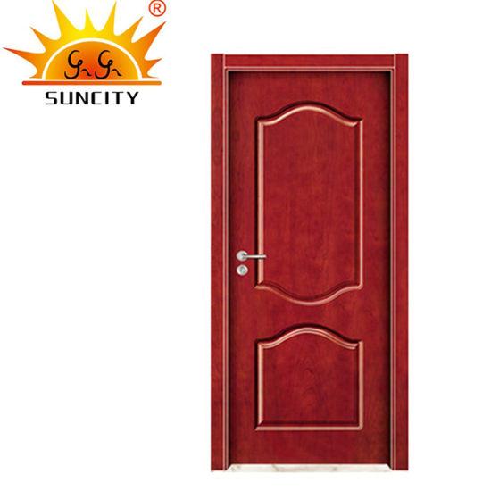 Simple Design Low Price Hotel Room PVC Toilet Wooden Doors