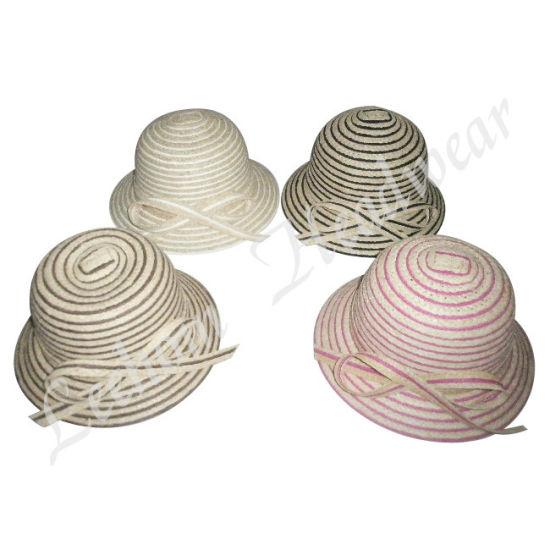 Fashion Summer Fedora Straw Bucket Hat (LB14030)