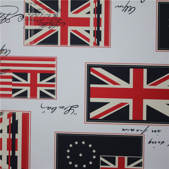 Big Union-Jack Printed PVC Artificial Leather for Leisure Sofa pictures & photos
