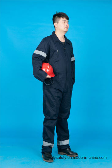 65% Polyester 35%Cotton Long Sleeve Safety Cheap Workwear Uniform (BLY1020)
