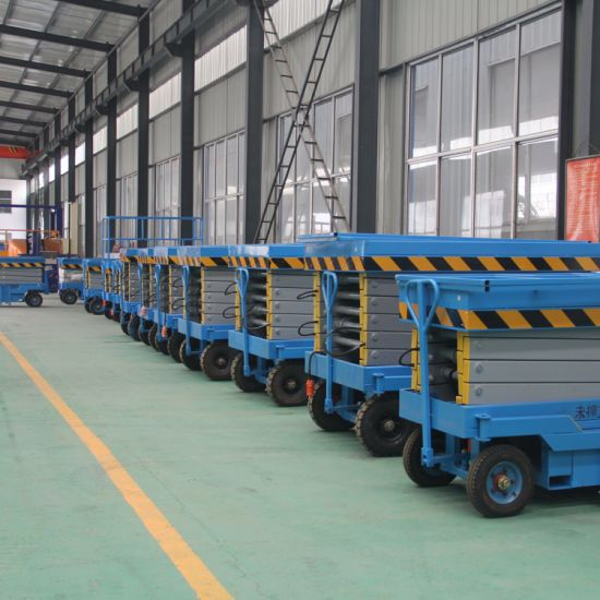 Ce Approved Cheap Hydraulic Movable Scissor Lift Table for Sale pictures & photos
